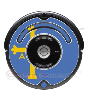 Bandera de Asturias. Pegatina para Roomba - Serie 500 600