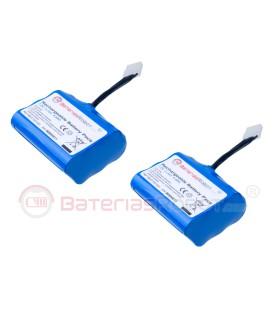 Pack 2 batteries Li-ion pour une série de Neato XV.